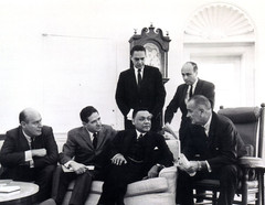 #8 Lyndon Baines Johnson with John Lewis and AJC