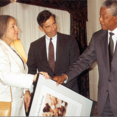 #50 Mandela with AJC Leaders - No One is Born Hating