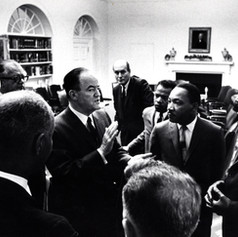 SOLD #1 Humphrey and Dr. Martin Luther King, Jr. in Oval Office