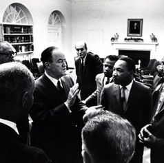 #1 Humphrey and Dr. Martin Luther King, Jr. in Oval Office