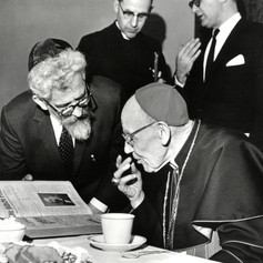 #32 Rabbi Heschel and Cardinal Bea, 1963