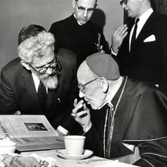 #32 Rabbi Heschel and Cardinal Bea, 1963