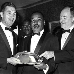 #21 Dr. Martin Luther King, Jr. and Former Vice President Hubert H. Humphrey at AJC Dinner, 1965