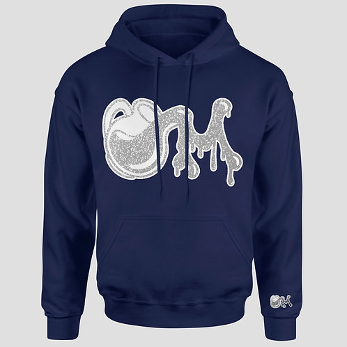 Navy Blue/Silver & White Shimmer M.I.L.K Drip Hoodie