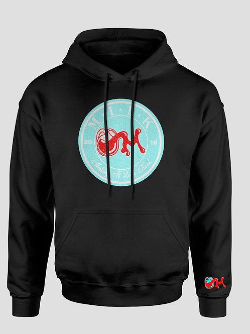 Black Teal Red & White M.I.L.K Hooded Sweatshirt