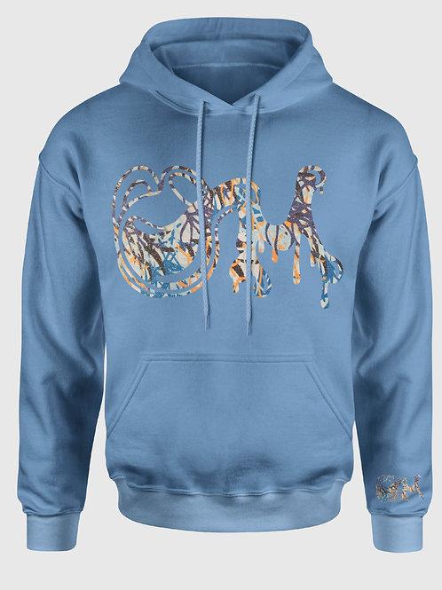 Carolina Blue Seaweed M.I.LK Drip Shimmer Hooded Sweatshirt