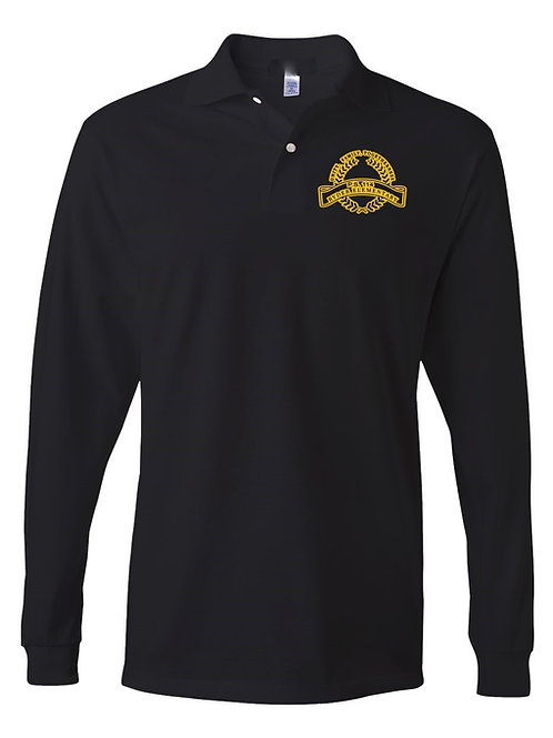 P.S. 114 Staff Long  Sleeve Polo Gold logo