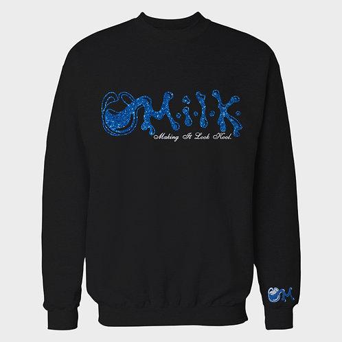 M.I.L.K- Shimmer Black Crewneck