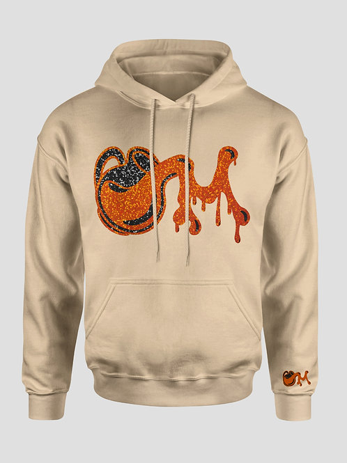 Tan Orange & Black M.I.L.K Shimmer Hooded Sweatshirt