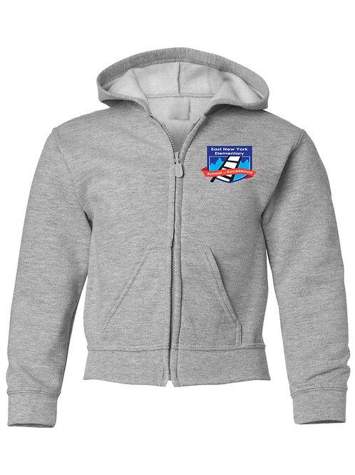 Logo Zip Up Hooded Sweatshirt