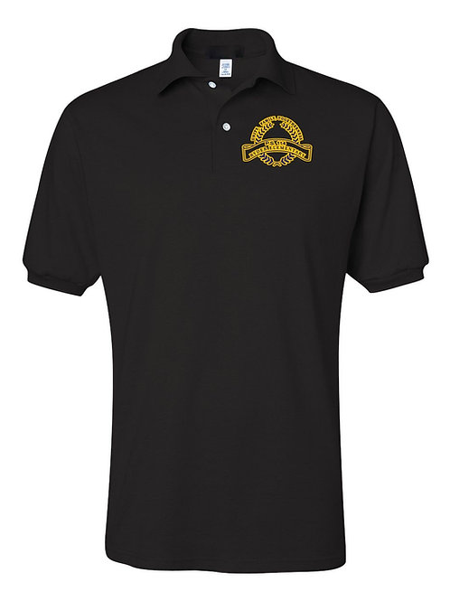 P.S. 114 Staff Short Sleeve Polo Gold Logo