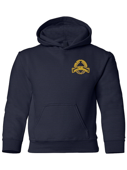 P.S. 114 Staff Hooded Sweatshirt Gold logo