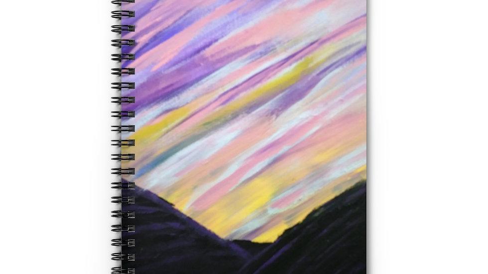 Mountain Sunset Spiral Notebook - Ruled Line