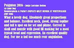 Paignton 2016 1st limit