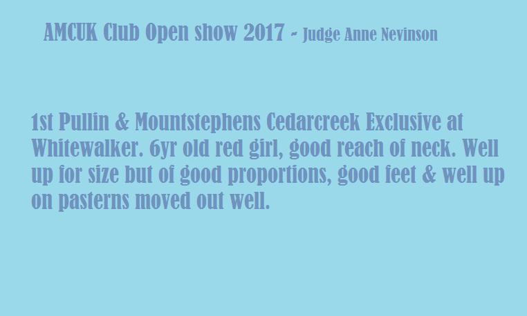 Amcuk may show 2017