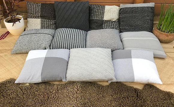 Monochrome Country Road Cushions