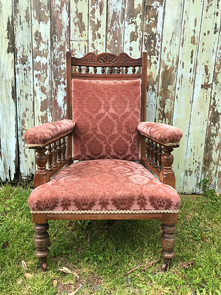 Grandfather Dusty Rose Chair