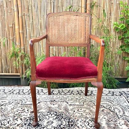 Vintage Red Velvet Signing Chair
