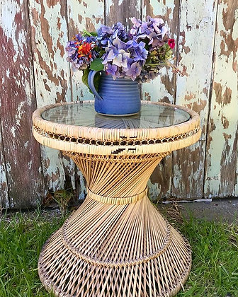 Peacock Table with Glasstop
