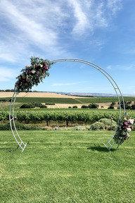 White Half Round Arch