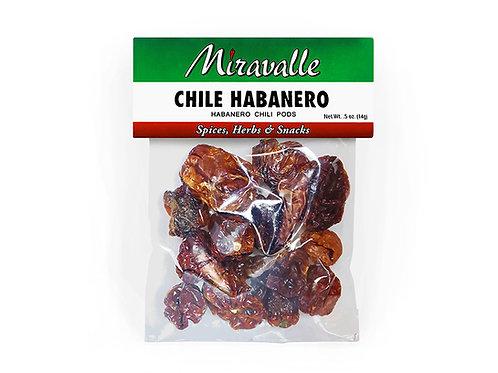 Chile Habanero 3paq 0.5oz