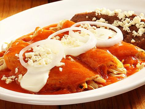 Las Mejores Enchiladas Rojas