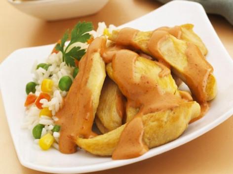 Fajitas de pollo al chipotle
