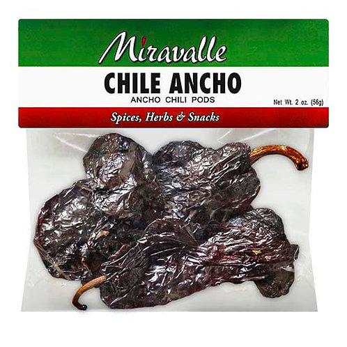 Chiles Ancho 3paq 3oz
