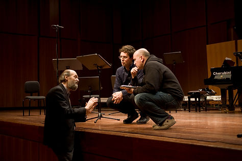 with Arvo Part and Oscar Pizzo