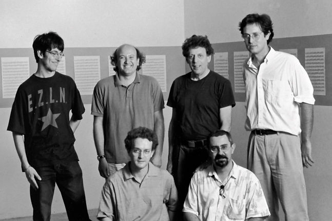 with Philip Glass and Alter Ego. Photo by Elisabetta Catalano