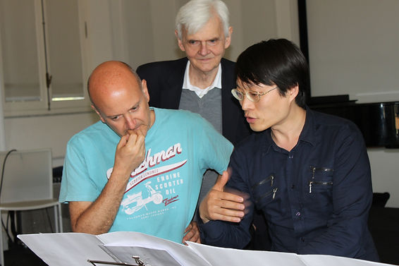 with Lei Liang and Richard Thrytall