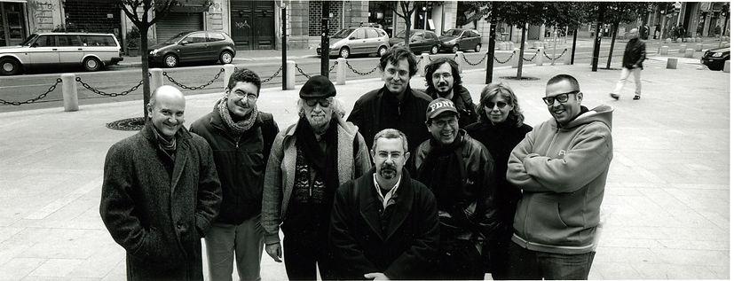 with Frederic Rzewski, Alvin Curran, Frankie HI NRG and Alter Ego. Photo by Roberto Masotti