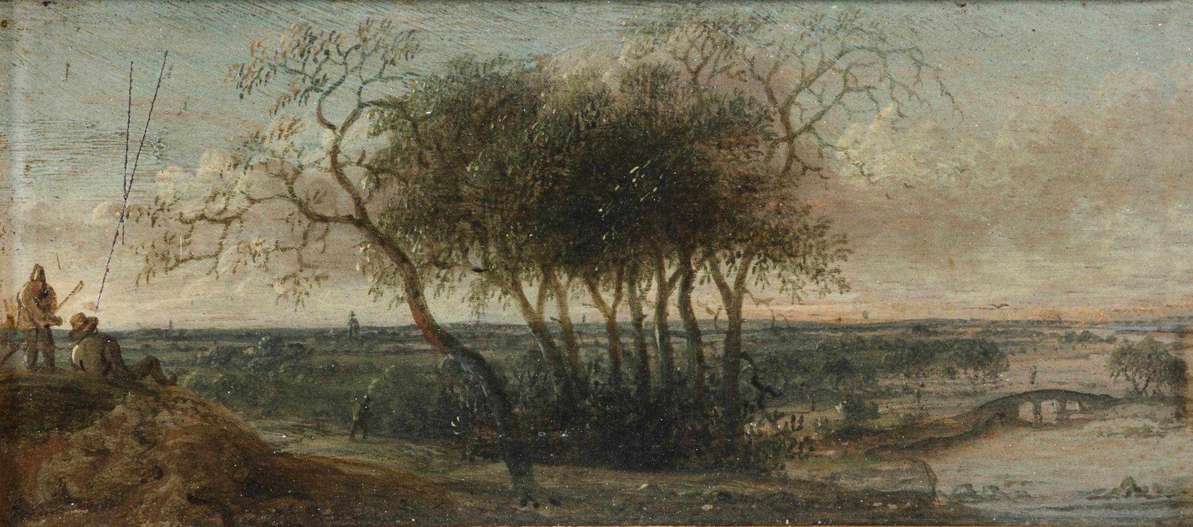 17e eeuws panorama landschap