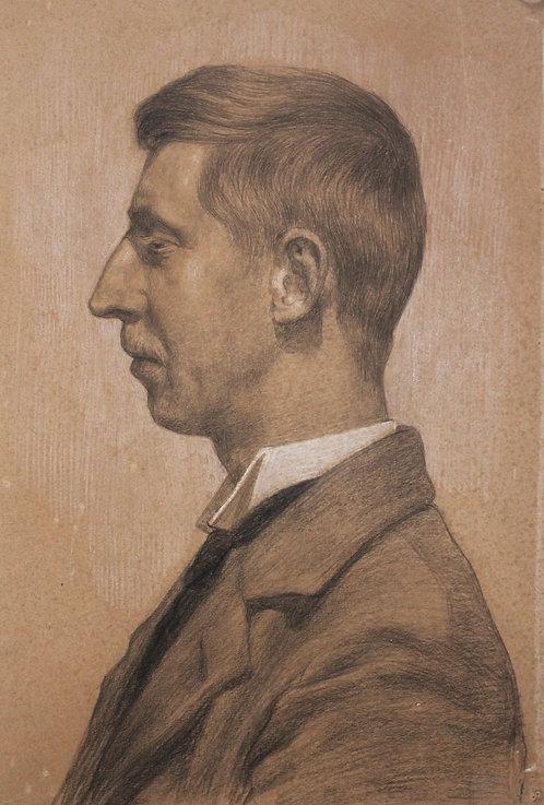 Portret van een man en profiel