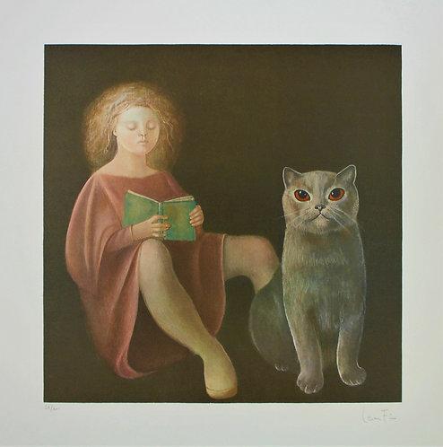 'La fille et le chat'