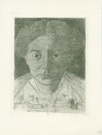 Jan Mankes te koop, Portret van Annie Zernike proefdruk, 1914, ets (GE11)
