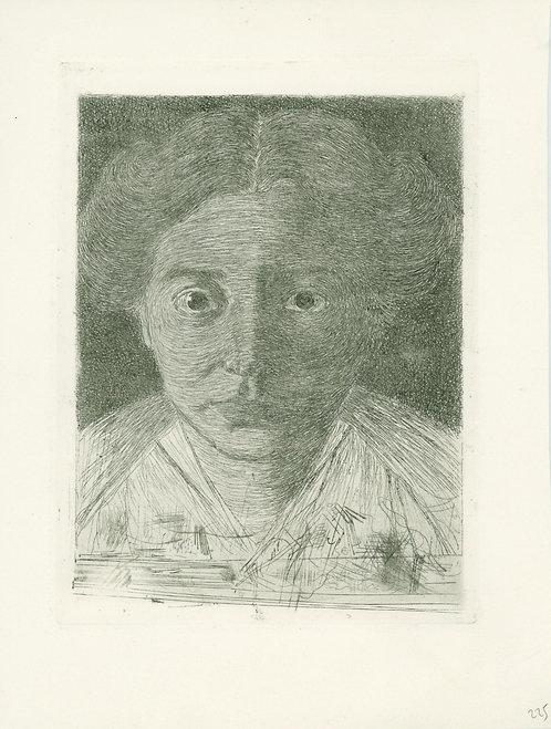"Jan Mankes ""Portrait of Annie Zernike"""