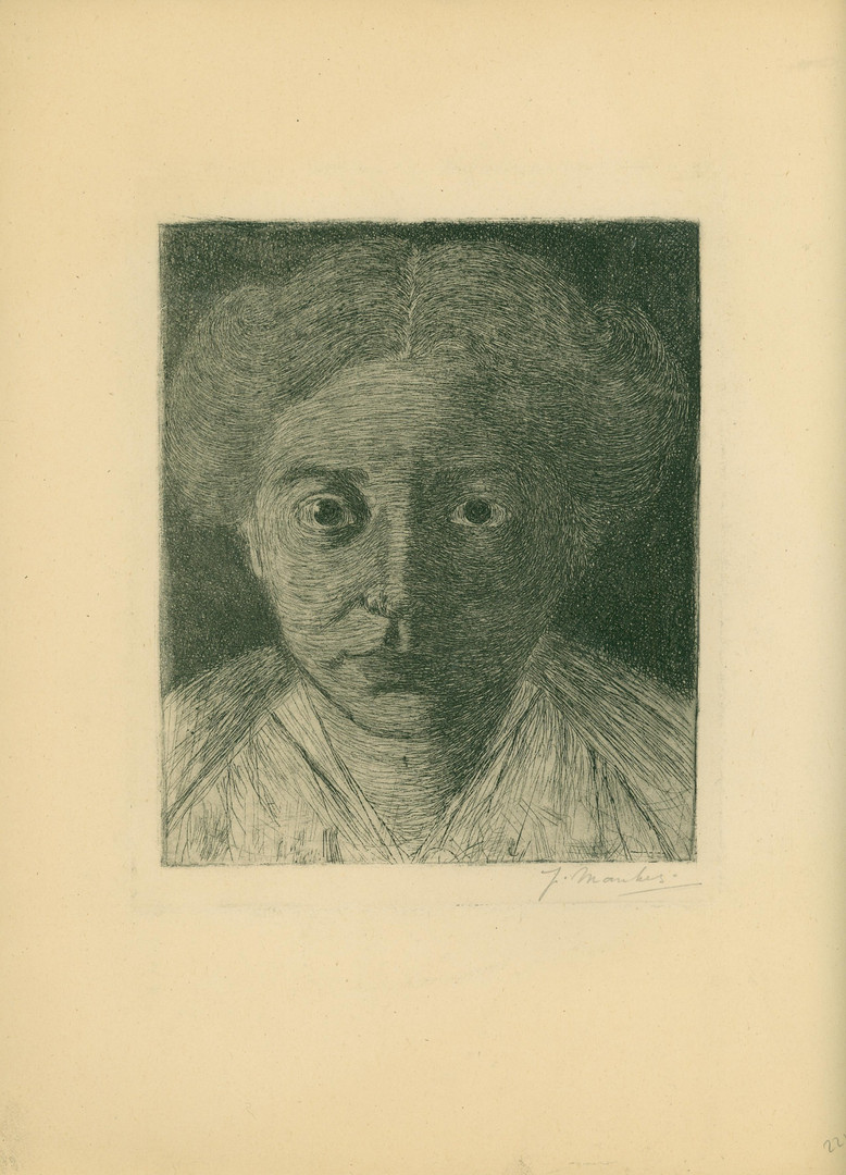 Jan Mankes, portret van Annie Zernike