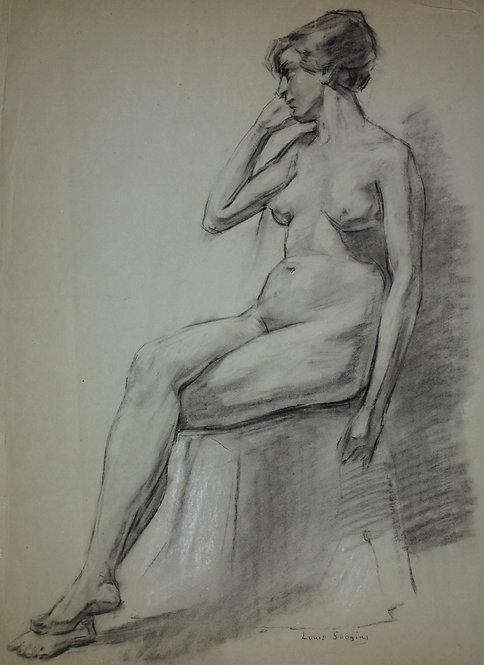 Naaktstudie van een vrouw