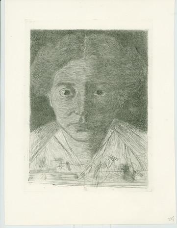 Jan Mankes, proefdruk Portet van Annie Zernike, 1914, ets (GE11).