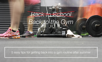 Back to the Gym: 5 easy tips for getting back into a gym routine after summer.