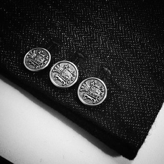 Close up sleeve buttons