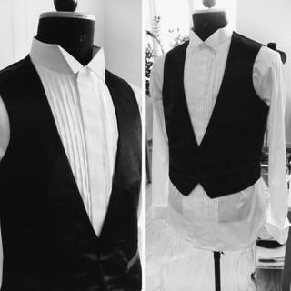Tailored shirt and waistcoat
