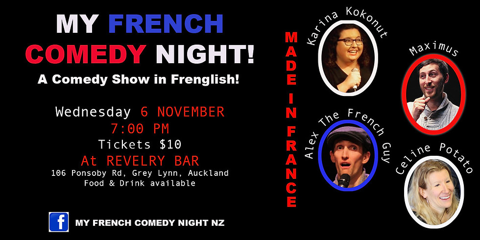 My French Comedy Night at the Revelry!