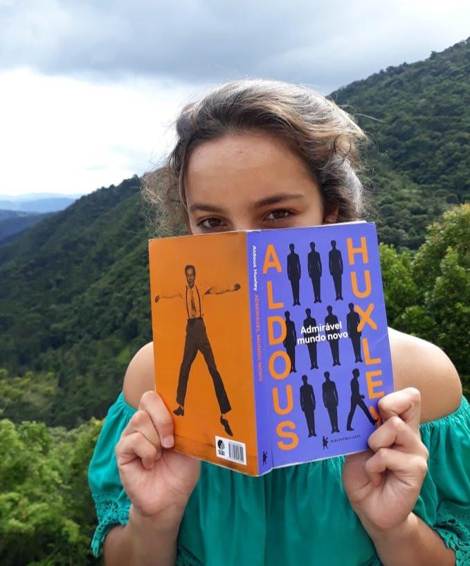Lari Shanti Adimiravel Mundo Novo livro Aldous Huxley