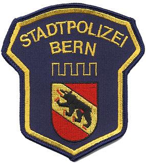 gesticktes Abzeichen, gestickte Aufnäher, Stadtpolizei Bern