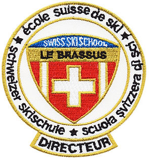 gesticktes Abzeichengesticktes Abzeichen, gestickte Aufnäher, Swiss Skischool
