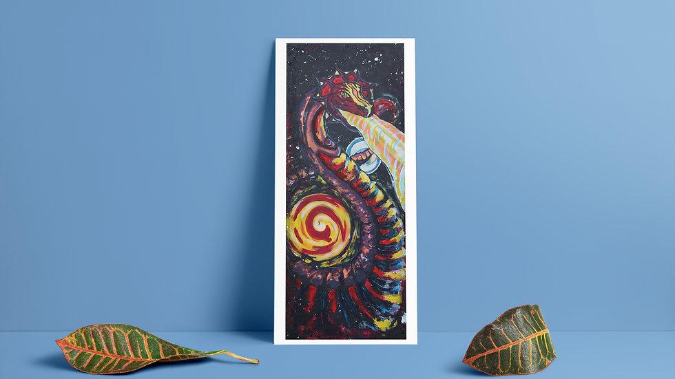 Interplanetary Dragon Art Print