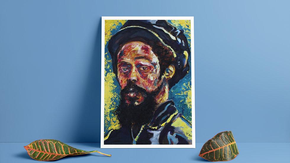 Damian Marley Art Print