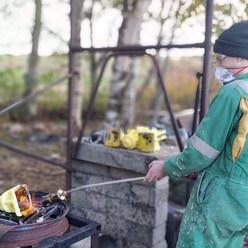 Amazing week in Scotland, bronze casting